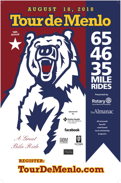 16th annual Tour de Menlo set for August 18