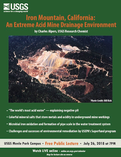 Post image for USGS public lecture focuses on Iron Mountain and acid mine drainage