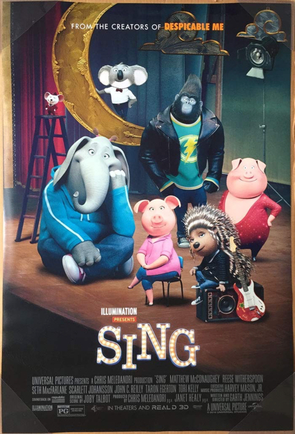 """Sing"" screens at Burgess Park on Aug. 31"