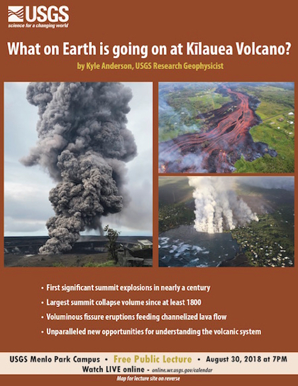 Upcoming USGS evening lecture looks at what's happening with the Kilauea Volcano