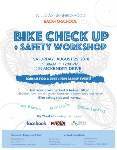 Post image for Bike safety workshop scheduled for Aug. 25 on McKendry Dr. in Menlo Park