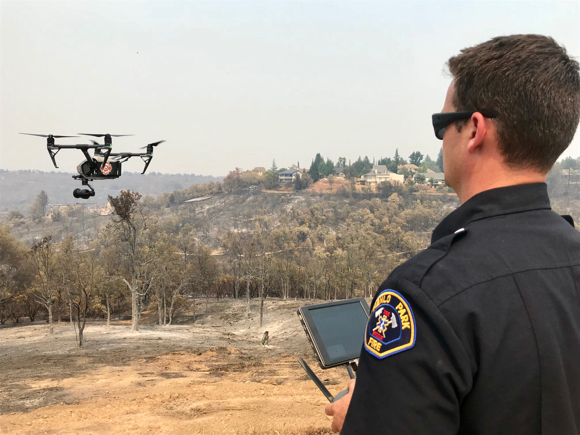 Post image for Update on Menlo Fire's drone work in Redding