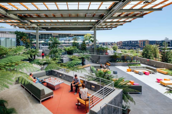 New Frank Gehry designed building expands Facebook campus in Menlo Park