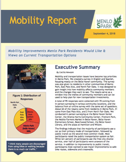Post image for Menlo Spark releases results of mobility survey