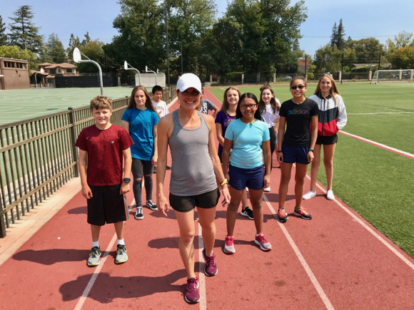 Post image for Fitness consultant Stella Bergan is back for another year of cross country training at Hillview Middle School