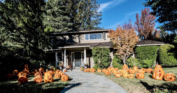 Wow – that's a front yard full of jack o' lanterns