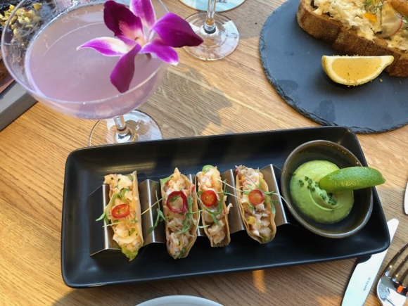 Getting a first look at Park James Hotel O+V's patio courtyard – and taste testing its food and drink options