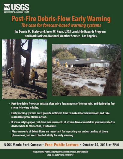 "Post image for ""Post-Fire Debris-Flow Early Warning"" is USGS public lecture on Oct. 25"