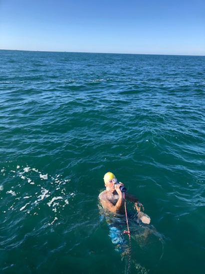 Scott Kaloust completes challenging open water swim –  crossing the English Channel