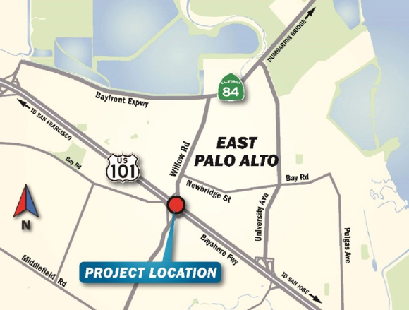 Post image for Willow Road at Highway 101 slated for closure the weekend of Oct. 5-7