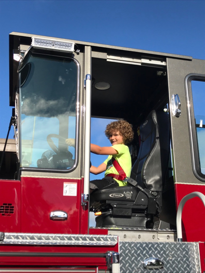 Eating pancakes and climbing on fire trucks makes for fun morning in Menlo Park