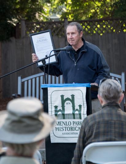 Menlo Park Historical Association commemorates end of World War I and the beginning of Fremont Park