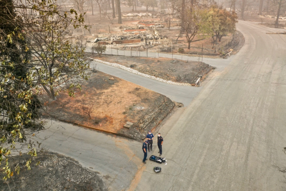 Menlo Park Fire Drone Team deployed to Butte County to provided aerial damage assessment