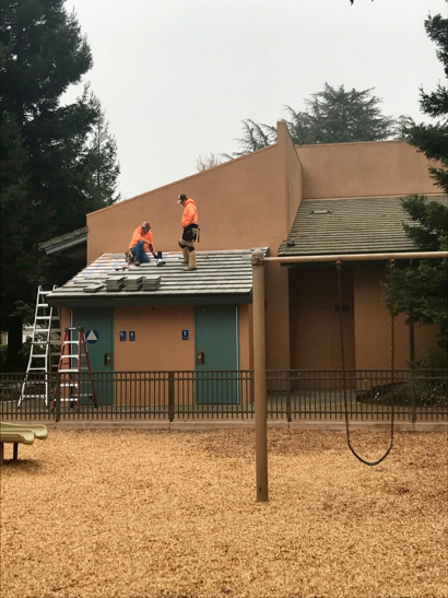 Post image for Spotted: Restrooms being worked on at Jack Lyle Park