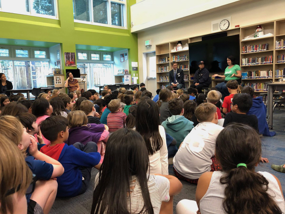 Post image for Spotted: Local heroes visiting Laurel School in Atherton