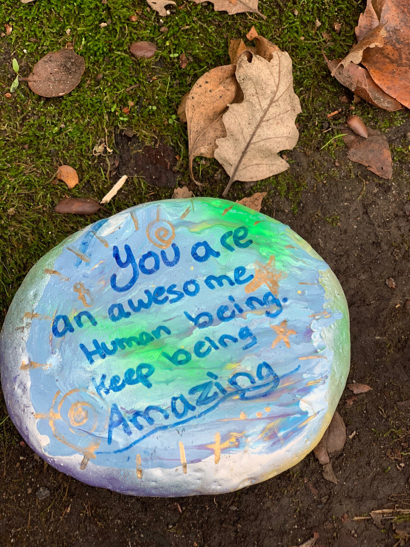 Spotted: Cheery, hand painted rocks on Altschul Ave