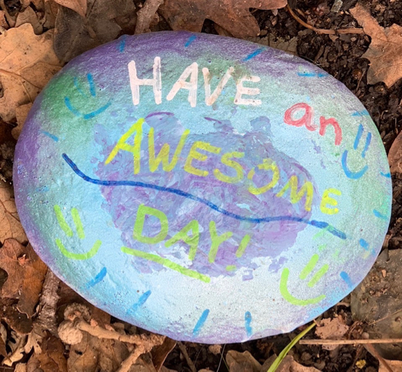 Post image for Spotted: Cheery, hand painted rocks on Altschul Ave