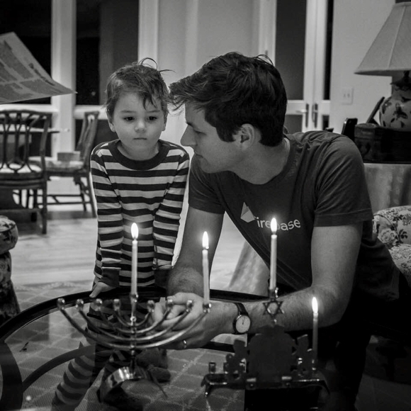 Post image for Spotted: Father & son sharing a first night of Hanukkah moment