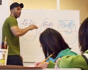 Learn how to draw cartoons on Feb. 24