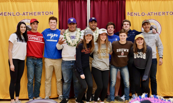 Menlo-Atherton High School athletes are celebrated on National Signing Day 2019