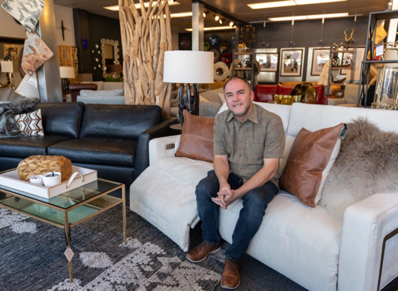 Menlo Park couple own and operate Leather Leather Furniture Gallery on El Camino