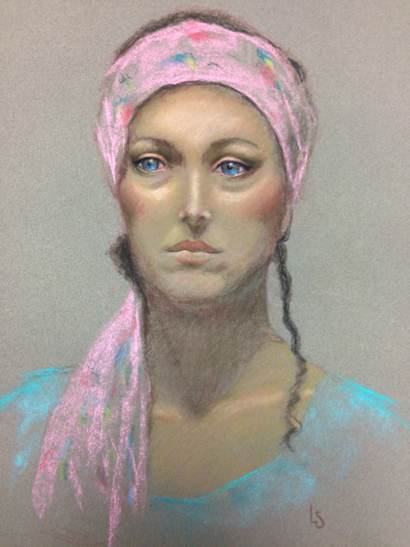 """""""Faces"""" featuring artist Linda Salter is March featured exhibit at Portola Art Gallery."""
