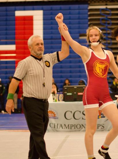 M-A wrestler Lauren McDonnell receives CIF Spirit of Sport Award