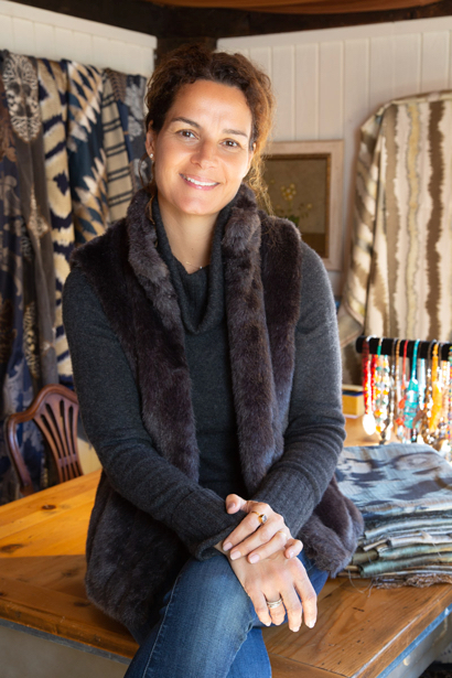 Shalini Bitzer combines creativity and international influences in designing luxurious fabrics
