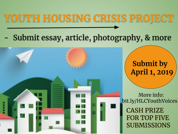 Housing Leadership Council of San Mateo County invites youth to enter contest on area housing crisis
