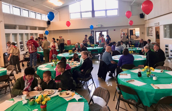 Spotted: Hungry diners at Boy Scout Troop 206 pancake breakfast