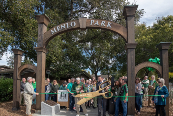 Menlo Gates officially dedicated, fittingly on St. Patrick's Day