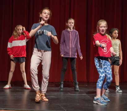 Spotted: La Entrada students rehearsing Peter Pan Jr.