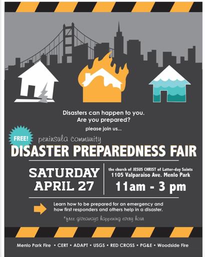 Disaster Preparedness Fair set for April 27 — InMenlo