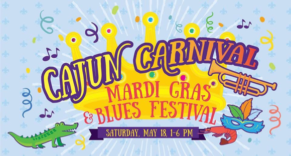 Mardi Gras & Blues Festival at Facebook on May 18