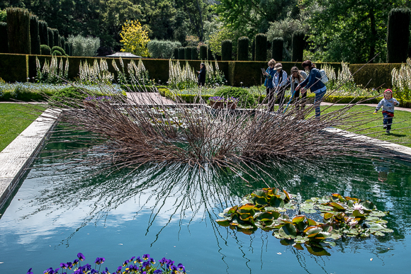 """Nests: Patterns from Nature"" by W. Gary Smith on display at Filoli"