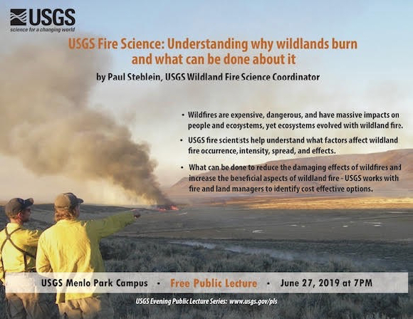 Understanding why woodlands burn is topic of next USGS public lecture on June 27