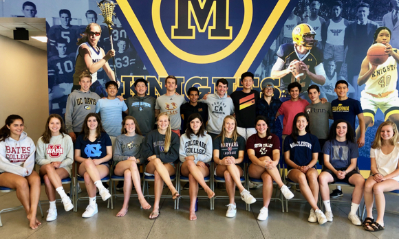 Thirty Menlo School student-athletes committed to play sports in college