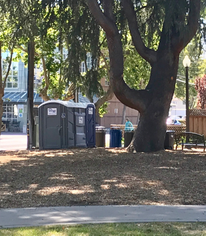 Spotted: Porta potties at Fremont Park