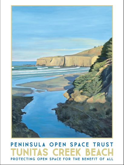 POST offers Jim Caldwell poster of Tunitas Creek Beach painting