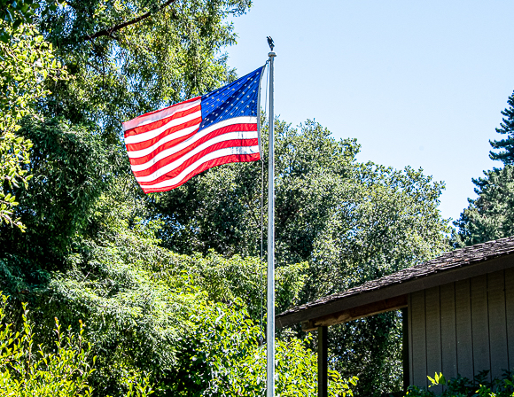 Old Glory still flies on Bay Laurel thanks to Bill McClure