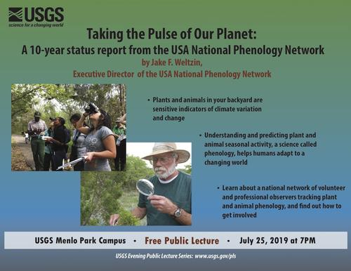 Next USGS public lecture on July 25 focuses on phenology