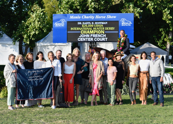 John French and Center Court are winners at Menlo Charity Horse Show