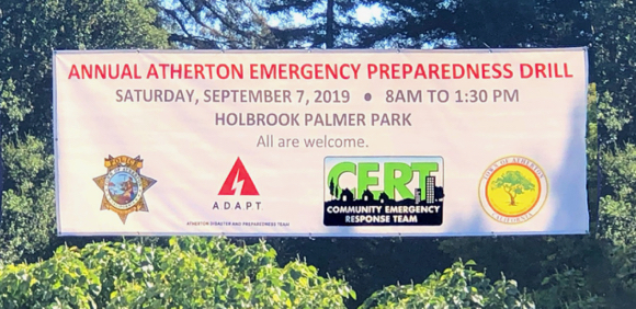 Annual Atherton emergency preparedness drill on Sept. 7