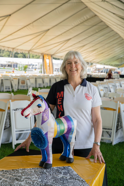 Equestrian Diann Lewis dons volunteer cap for 49th annual Menlo Charity Horse Show