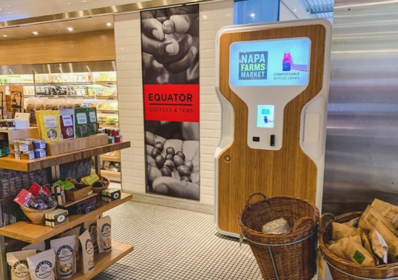 Spotted: Menlo Park startup Drop Water's kiosk at SFO Terminal 2