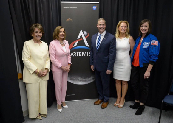 Spotted: NASA hosts Anna Eshoo and Nancy Pelosi at Women's Equality Day event