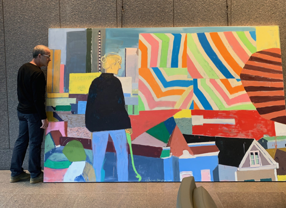 22 large-scale paintings by Mitchell Johnson on display at 555 California St. in San Francisco