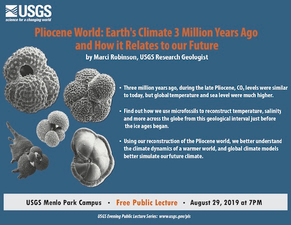 USGS evening public lecture on Aug. 29 looks at Pliocene World
