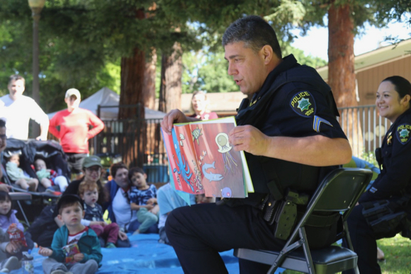 Kids invited to listen to books read by Menlo Park police officers on Aug. 30