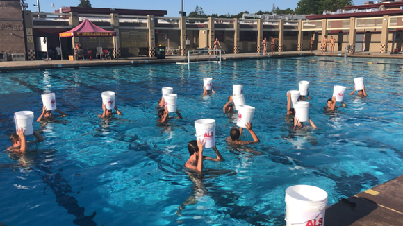 Ice Bucket Challenge comes to Menlo-Atherton High School in support of parent who has ALS